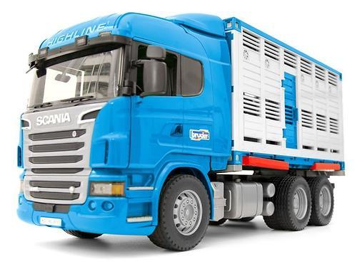 Фургон Bruder Scania для перевозки животных с коровой (4)