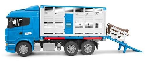 Фургон Bruder Scania для перевозки животных с коровой (5)