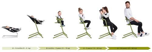 Стульчик Cybex Lemo Outback Green со столиком Lemo Tray и модулем Lemo Baby Set Outback (18)
