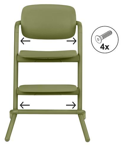 Стульчик Cybex Lemo Outback Green со столиком Lemo Tray и модулем Lemo Baby Set Outback (13)