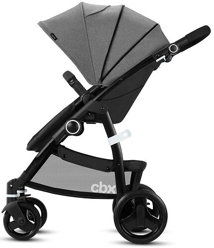 Коляска 2в1 CBX by Cybex Leotie Pure Smoky Anthracite (11)