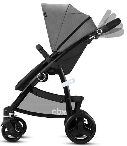 Коляска 2в1 CBX by Cybex Leotie Pure Smoky Anthracite (12)
