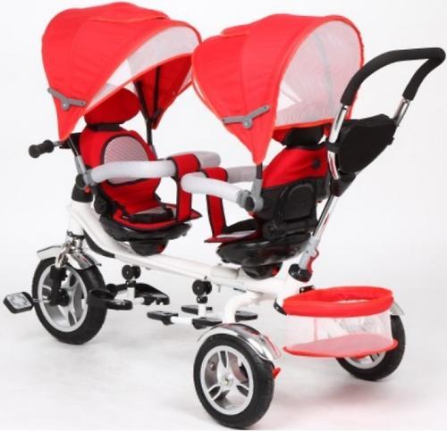Уценка! Велосипед Capella Twin Trike 360 для двойни 3-х колесный Red (10)