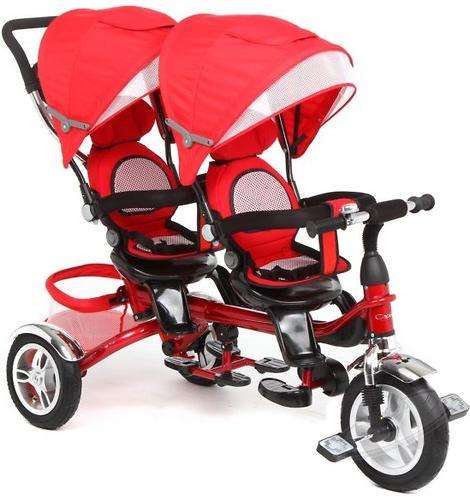 Уценка! Велосипед Capella Twin Trike 360 для двойни 3-х колесный Red (9)