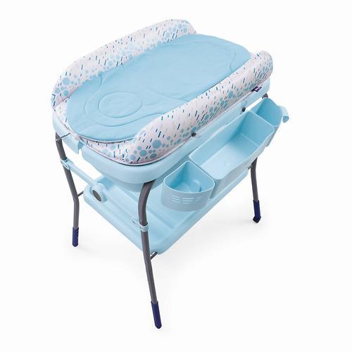 Столик для пеленания+ванночка Chicco Cuddle-Bubble Ocean (12)