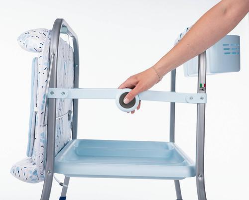 Столик для пеленания+ванночка Chicco Cuddle-Bubble Ocean (14)