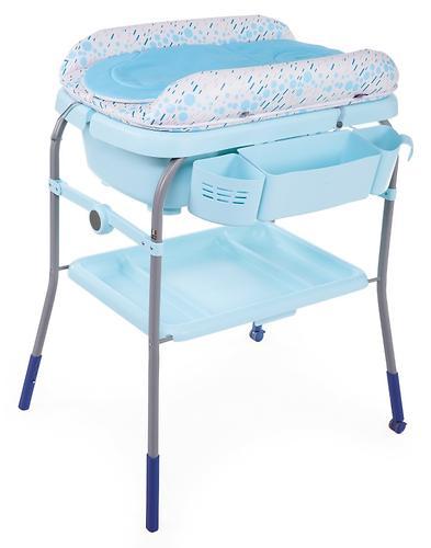 Столик для пеленания+ванночка Chicco Cuddle-Bubble Ocean (11)