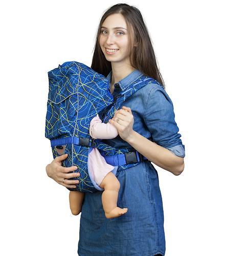 Кенгуру-рюкзак Чудо-Чадо Baby Active Choice Электроника-Cиний (8)
