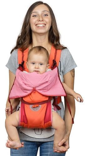 Кенгуру-рюкзак Чудо-Чадо Baby Active Luxe Вишнево-Коралловый (10)