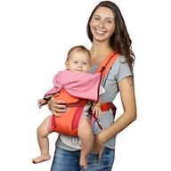 Кенгуру-рюкзак Чудо-Чадо Baby Active Luxe Вишнево-Коралловый