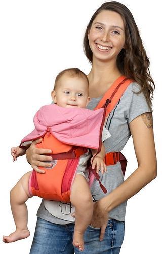 Кенгуру-рюкзак Чудо-Чадо Baby Active Luxe Вишнево-Коралловый (9)