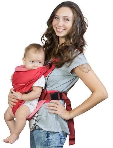 Кенгуру-рюкзак Чудо-Чадо Baby Active Simple Вишневый (6)