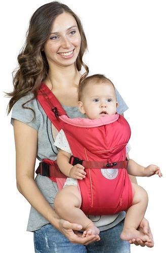 Кенгуру-рюкзак Чудо-Чадо Baby Active Simple Вишневый (5)