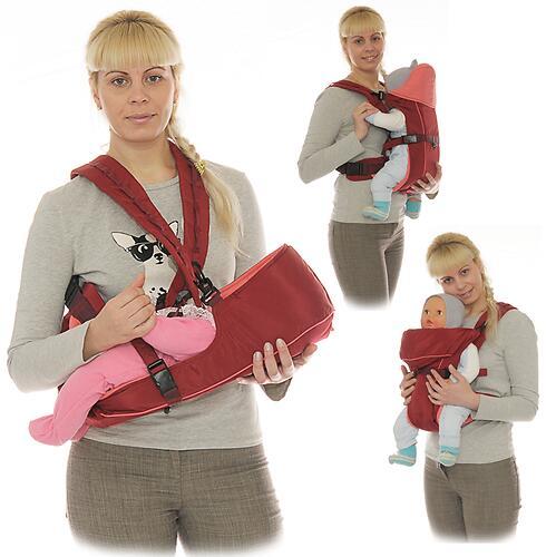 Кенгуру-рюкзак Чудо-Чадо Baby Active Simple Вишневый (8)