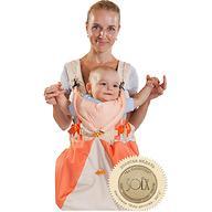 Кенгуру-рюкзак Чудо-Чадо Baby Active Luxe Бежево-Оранжевый