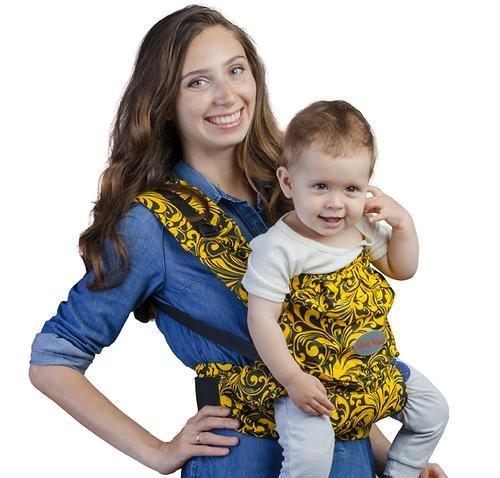 Слинг-рюкзак Чудо-Чадо Бебимобиль Позитив Черно-Желтый (6)