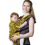 Слинг-рюкзак Чудо-Чадо Бебимобиль Позитив Черно-Желтый
