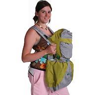 Кенгуру-рюкзак Чудо-Чадо Baby Active Luxe Серо-Зеленый
