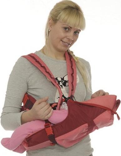 Кенгуру-рюкзак Чудо-Чадо Baby Active Luxe Вишнево-Коралловый (14)