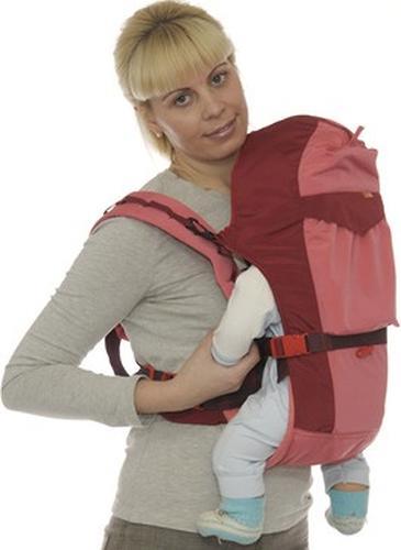 Кенгуру-рюкзак Чудо-Чадо Baby Active Luxe Вишнево-Коралловый (12)