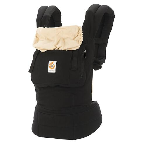 Рюкзак-кенгуру Ergobaby Original Carrier Black and Camel (9)