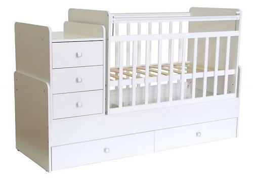 Кроватка детская Фея 1100 Белый (3)