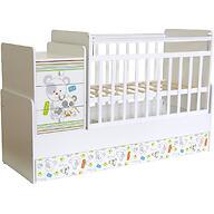 Кроватка-трансформер детская Фея 1100 Панды Белый