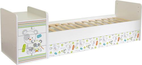 Кроватка-трансформер детская Фея 1100 Панды Белый (6)