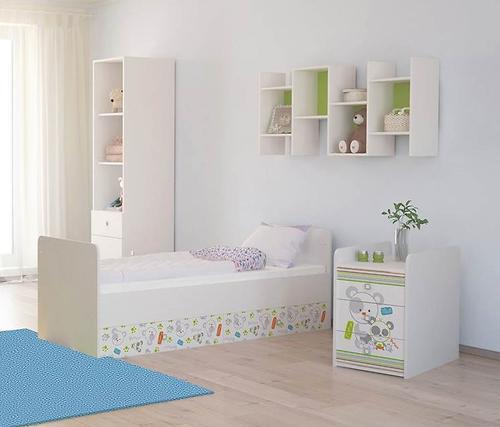 Кроватка-трансформер детская Фея 1100 Панды Белый (8)