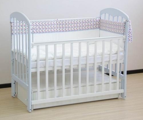 Кроватка детская ФЕЯ 328 белая (5)