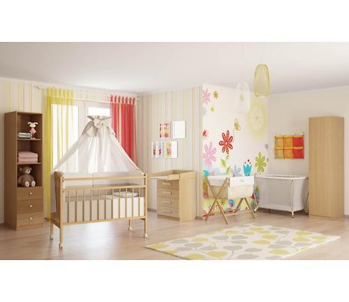Кроватка детская Фея 203 Табачный дуб (4)