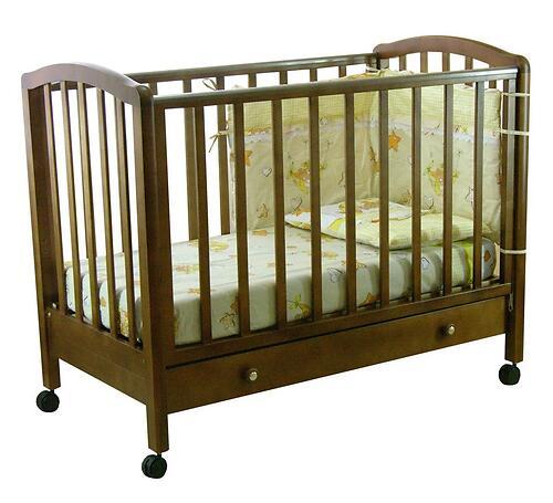 Кроватка детская Фея 600 Темный мед (1)