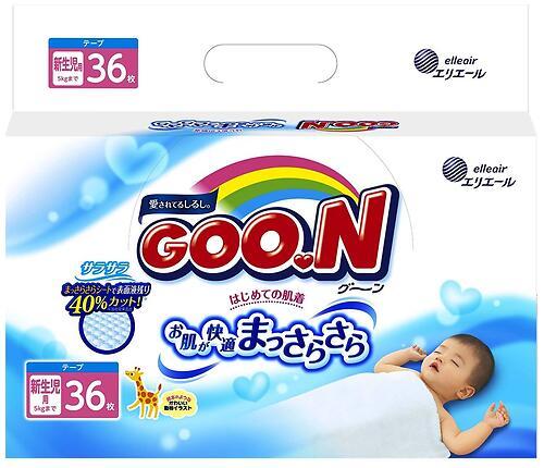 Подгузники Goon 0-5 кг NB 36 шт (3)