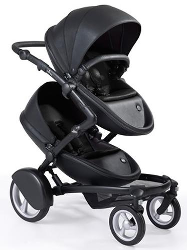 Коляска для двойни/погодок Mima KOBI TWIN Black (6)