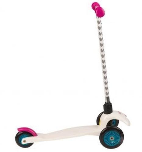 Самокат Leader kids 3-х колесный сдвоенные колеса Розовый (4)