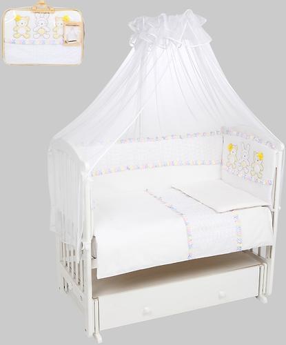 Комплект в кроватку Leader Kids Нежные друзья 7 предметов Белый (1)