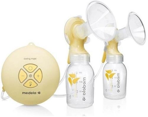 Молокоотсос MEDELA двойной электронный SWING MAXI + соска Calma (8)