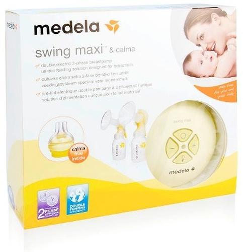 Молокоотсос MEDELA двойной электронный SWING MAXI + соска Calma (10)