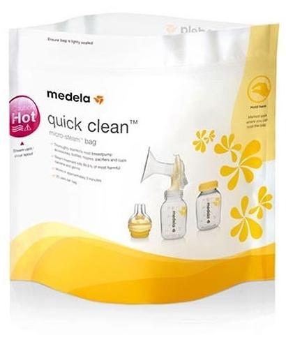 Пакеты для паровой стерилизации в микроволновке MEDELA QUICK CLEAN 5 шт (4)