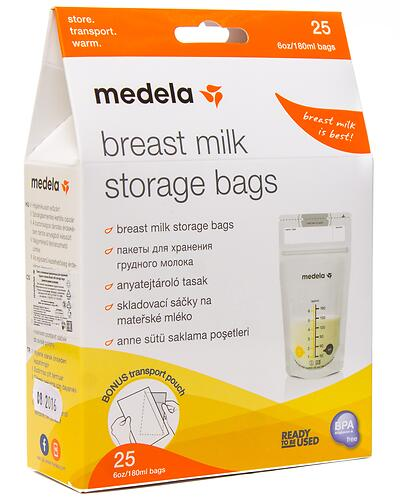 Пакеты Medela для сбора и хранения молока 25 шт (6)