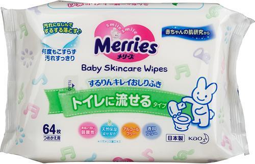 Салфетки влажные Merries в мягкой упаковке 64 шт (1)