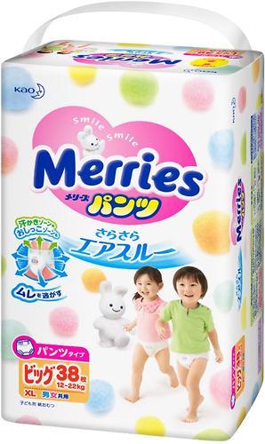 Подгузники-трусики Merries XL 12-22кг 38шт (6)