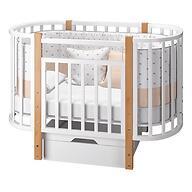 Кровать-трансформер Можгамебель Элен 3 с маятником и ящиком Белый-Бук