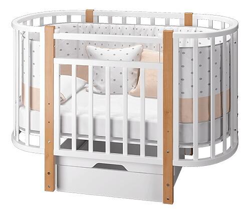 Кровать-трансформер Можгамебель Элен 3 с маятником и ящиком Белый-Бук (7)