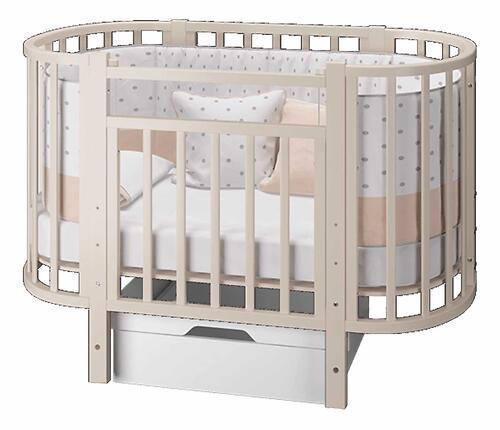 Кровать-трансформер Можгамебель Элен 3 с маятником и ящиком Слоновая кость (8)