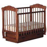 Кровать-манеж Кармелита Орех с ящиком