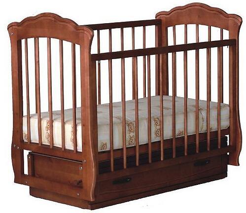 Кровать-манеж Кармелита Орех с ящиком (1)