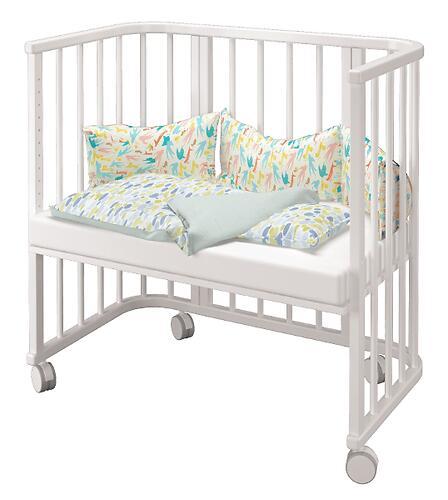 Кровать Можгамебель Эстель приставная Белая (7)