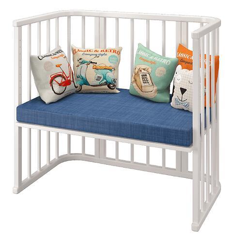 Кровать Можгамебель Эстель приставная Белая (10)