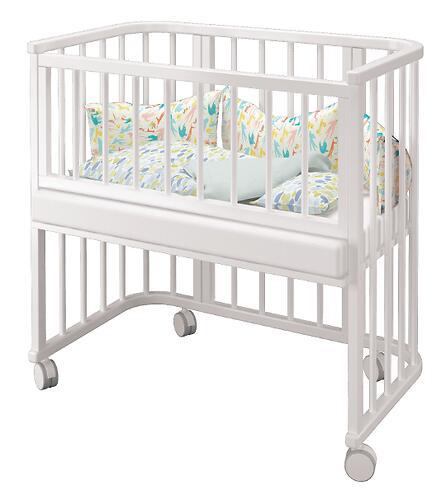 Кровать Можгамебель Эстель приставная Белая (6)
